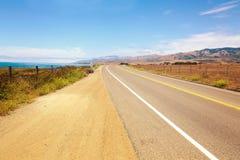 Strada principale della costa del Pacifico, California, U.S.A. Immagini Stock