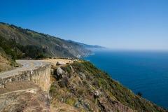 Strada principale della costa del Pacifico in California, U.S.A. Immagine Stock Libera da Diritti