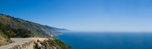 Strada principale della costa del Pacifico in California, U.S.A. Fotografia Stock Libera da Diritti