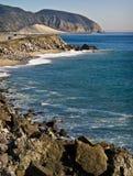 Strada principale della Costa del Pacifico della California Fotografia Stock Libera da Diritti