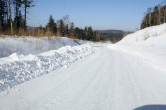 Strada principale della neve Fotografie Stock
