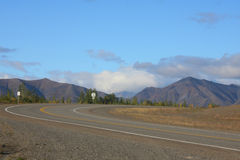 Strada principale della sosta scenica nell'Alaska Fotografie Stock Libere da Diritti