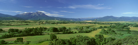 Strada principale delle leggende, valle di Cuchara, Colorado Fotografie Stock