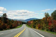 Strada principale di autunno Fotografie Stock