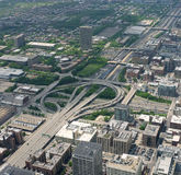 Strada principale di Chicago Fotografia Stock Libera da Diritti