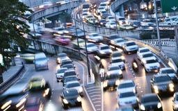 strada principale di Controllato-Access a Bangkok durante l'ora di punta fotografia stock