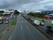 Strada principale di generale Cañas Costa Rica fotografie stock