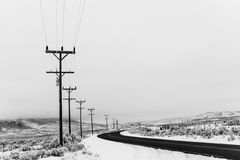 Strada principale di inverno Immagini Stock Libere da Diritti