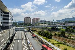 Strada principale di Kuala Lumpur Fotografie Stock