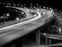 Strada principale di notte Immagine Stock