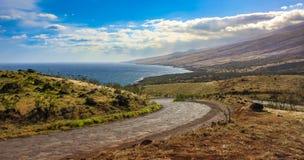 Strada principale di Piilani, Maui Fotografie Stock