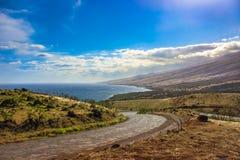 Strada principale di Piilani, Maui Fotografie Stock Libere da Diritti