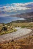 Strada principale di Piilani, Maui Fotografia Stock Libera da Diritti