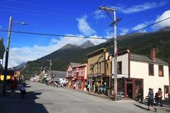 Strada principale di Skagway - Alaska - U.S.A. fotografia stock libera da diritti