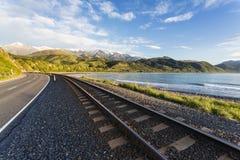 Strada principale di stato di Kaikoura, NZ Fotografia Stock Libera da Diritti