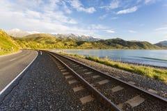 Strada principale di stato di Kaikoura, NZ Immagini Stock
