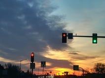 Strada principale 34 di tramonto fotografia stock