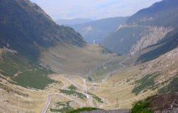 Strada principale di Transfagarasan in Romania Fotografie Stock