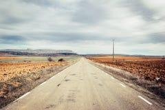 Strada principale ed orizzonte immagine stock