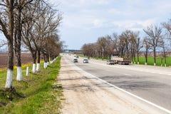Strada principale federale Krasnodar - Novorossijsk Fotografia Stock Libera da Diritti