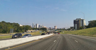 Strada principale I35 in Austin Immagine Stock Libera da Diritti