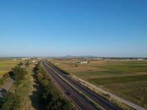Strada principale internazionale di Egnatia in Grecia immagini stock libere da diritti