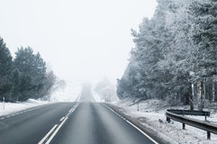 Strada principale in inverno Fotografie Stock Libere da Diritti