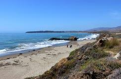 Strada principale Los Angeles della costa del Pacifico a San Francisco, guardante verso San Simeon Fotografia Stock