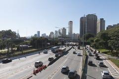 Strada principale marginale di Pinheiros immagini stock libere da diritti