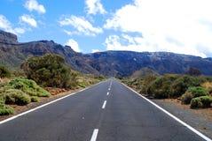 Strada principale in montagne Fotografia Stock Libera da Diritti