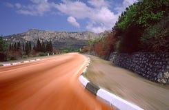 Strada principale in montagne Fotografia Stock