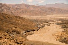 Strada principale nel Tibet Fotografia Stock