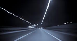 Strada principale nella sfuocatura di movimento Fotografia Stock