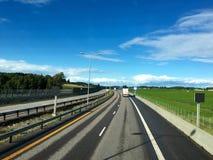 Strada principale norvegese Immagini Stock