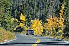 Strada principale 34, Rocky Mountain National Park Fotografia Stock Libera da Diritti