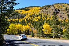 Strada principale 34, Rocky Mountain National Park Fotografia Stock