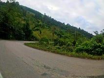 Strada principale rurale fra la montagna, Shan, Myanmar Fotografie Stock