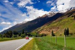 Strada principale rurale Nuova Zelanda Fotografia Stock