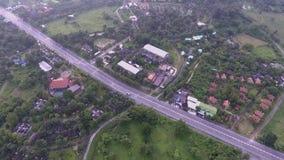 Strada principale rurale, Tailandia 2017 stock footage
