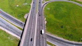 Strada principale, scambio Fucilazione aerea video d archivio
