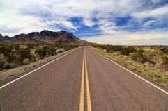 Strada principale scenica del deserto Immagine Stock