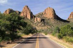 Strada principale scenica del deserto Fotografia Stock