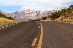Strada principale scenica del deserto Fotografie Stock