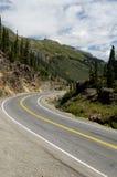 Strada principale scenica della montagna immagine stock