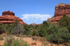 Strada principale scenica della roccia rossa Fotografie Stock