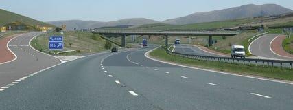 Strada principale in Scozia immagini stock