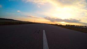 Strada principale sul tramonto Fotografia Stock Libera da Diritti