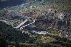 Strada principale US-60/77 che attraversano il fiume Salt in Arizona sul per Fotografie Stock Libere da Diritti