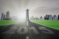 Strada principale verso futuro luminoso a 2015 Fotografia Stock Libera da Diritti