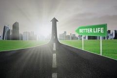 Strada principale verso migliore vita Immagine Stock Libera da Diritti
